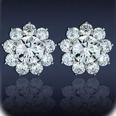 Cluster Floral Earrings by Jacob & Co.
