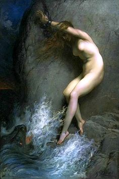Paul Gustave Doré  Andromeda  Andromeda is a princess from Greek mythology who, as divine punishment for her mother's bragging, the Boast of Cassiopeia, was chained to a rock as a sacrifice to a sea monster. She was saved from death by Perseus, her future husband.