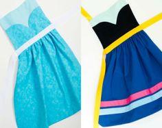 disney princess dress up pattern tutorials and aprons anna and elsa | disney s frozen princess anna a nd elsa dress up apron set for ...