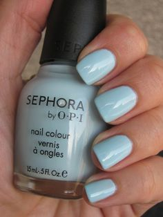 Sephora by OPI nails. Love this blue