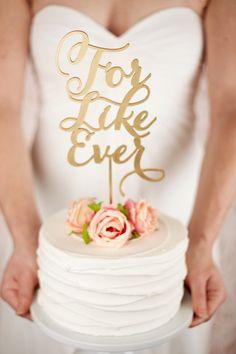 Wedding Cake Topper by Better Off Wed www.betteroffwed.co