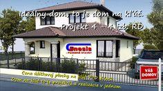 Vaše vysnívané bývanie Váš nový domov: Projekt 4 - 4 izb. bungalov. Inford800@gmail.com +421 908 762 654 Ponúkame výstavbu rodinných domov- nízkoenergetických bungalovov, ktoré spájajú komfort, kvalitu stavebných konštrukcií, energetickú a finančnú úspornosť, efektivitu. • Len za 770,-€/m2 úžitkovej plochy. • GENESIS – to je projekcia a realizácia v jednom. Dom na kľúč je nízkoenergetický bungalov realizovaný z kvalitných materiálov, zhotovený s citom pre detail, servis a inžiniering.