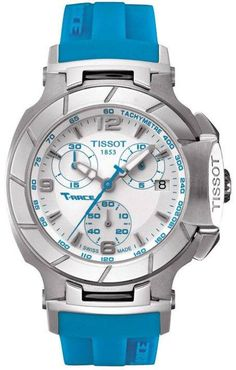 Tissot Watch T-Race #bezel-fixed #bracelet-strap-rubber #brand-tissot #case-depth-11mm #case-material-steel #case-width-36-65mm #chronograph-yes #date-yes #delivery-timescale-7-10-days #dial-colour-white #gender-ladies #luxury #movement-quartz-battery #of