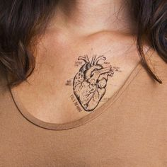 Wear your Heart Chart on your arm! Design by Peagreen Designs for Tattly temporary tattoos.