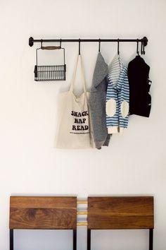 IKEA rail rack