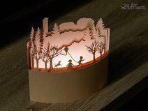 Bastelbogen Windlicht »Marienturm«