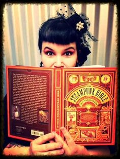THE STEAMPUNK BIBLE! #MiniTopHat #Steampink #Victorian Steampunk Hairstyles, Dead Makeup, Steampunk Fashion, Steam Punk, Cyber, Bible, Victorian, Pink, Inspiration