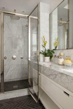 Cream And Gray Bathroom Bathrooms Pinterest Grey White Marble Powder Room