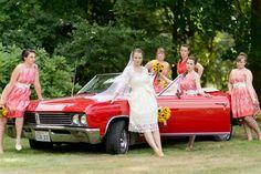 Wedding Photography, Bridal Party, Car  www.JosieRaePhotography.com