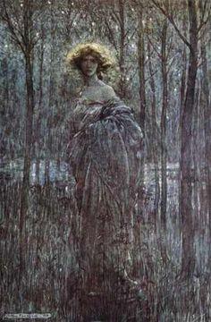 Arthur Rackham, Fair Helena from Midsummer Night's Dream