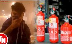 Streamer é atacado por hater com extintor de incêndio AO VIVO