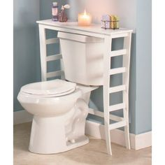 Amazon.com   Wooden Over The Toilet Table   White   Toilet Paper Holders