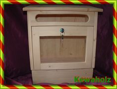 Postkasten Holz ,Briefkasten ,Holzbriefkasten, von KewaHolz auf DaWanda.com