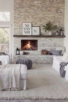 Brick wall and fire place