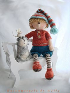Doll Knitting Pattern Martin the House Elf by KnitAmiracle