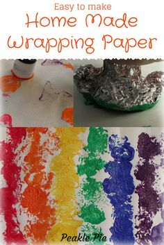 Easy Home Made Wrapping Paper