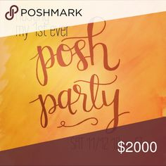 Hosting my first party 11/12 @ 10pm ET! So pumped to be hosting my first posh party! Sat 11/12. Stay tuned for the theme!!!! 💃💃💃🍾🍾🍾 Jackets & Coats