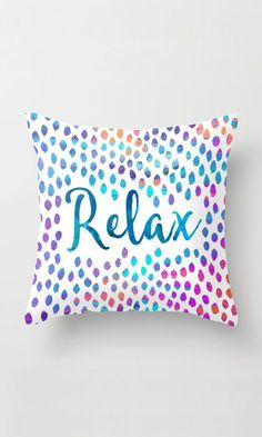 Relax Throw Pillow