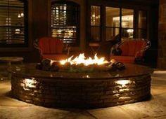 Improbable indoor fire pit designs from indoor gas fire pit , source:gardla Indoor Fire Pit, Bonfire Pits, Outside Fireplace, Gas Fireplace, Outdoor Living, Outdoor Decor, Outdoor Spaces, Outdoor Stuff, Outdoor Ideas