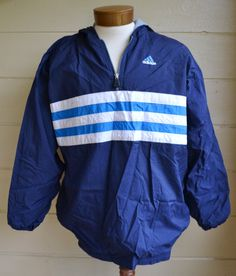 Vintage Adidas Pull Over Windbreaker Jacket by founditinatlanta, $28.00