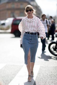Les Modeuses Ont Gardé Leurs Meilleurs Looks Street Style Pour la Fashion Week de Paris