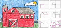 How to Draw a Barn - ART PROJECTS FOR KIDS