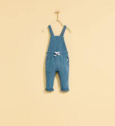 PLUSH DENIM DUNGAREES-JEANS-BABY GIRL   3 months - 4 years-KIDS   ZARA United States