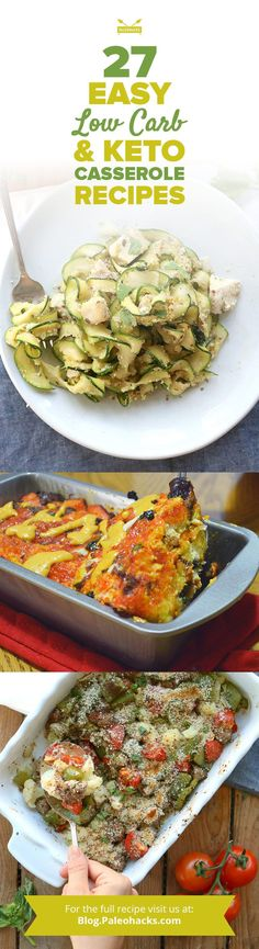 These amazing keto casserole recipes deliver savory, delectable flavor in one easy dish! Get the full recipes here: http://paleo.co/ketocasseroles