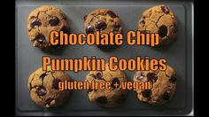 Melt-in-your-mouth, vegan chocolate chip pumpkin cookies. Soft, chewy, & ready in 30 mins or less. No hard to find ingredients for these gluten free cookies
