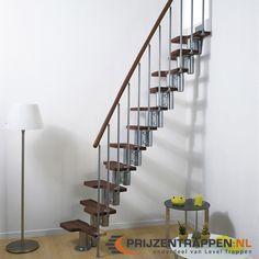 De trap mini  kan recht, maar ook gedraaid geïnstalleerd worden. De draairichting van de trap is instelbaar.