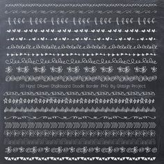 Chalkboard Doodle Border Chalkboard border by qidsignproject, $4.00
