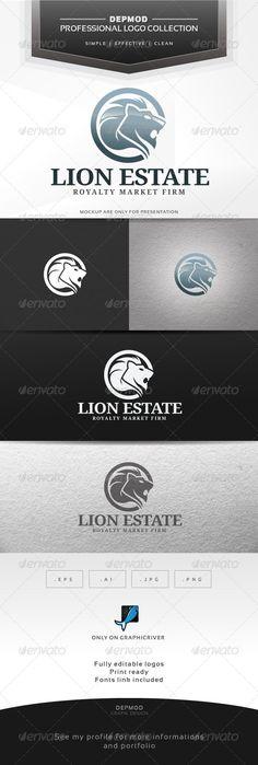 Lion Estate Logo — Vector EPS #strength #brand • Available here → https://graphicriver.net/item/lion-estate-logo/6370756?ref=pxcr