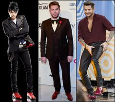 Adam Lambert stylin' Red Shoes