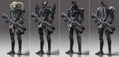 ArtStation - Biochemical armed robbers design version, Wu Shuang