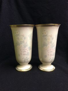 A personal favorite from my Etsy shop https://www.etsy.com/listing/256002271/pair-of-lenox-mckinley-vases