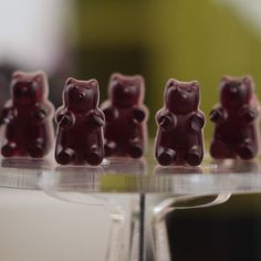 Alright guys, it's time to invest in a gummy bear mold! Because you're going to want to make these Merlot Gumm...