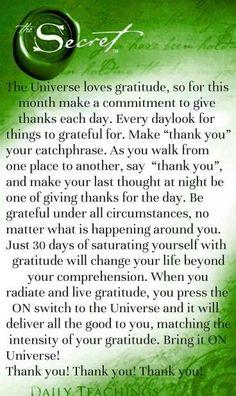 Gratitude is peace #lawofattraction