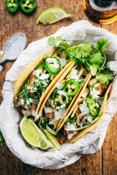 "#Spring is coming! Time for tacos! // ""20 Minute Ancho Chicken Tacos"" 