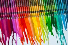 Rainbow crayon art