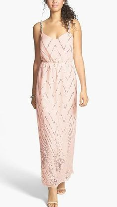 Love the blush maxi for prom!
