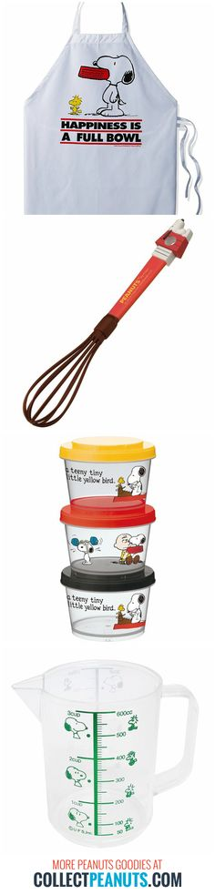 Chef Snoopy is in the kitchen cooking up treats! Grab your apron and start cooking with Snoopy popcorn makers, cookie cutters, utensils, dinnerware and more at CollectPeanuts.com.