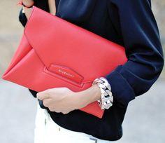 Givenchy Antigona Envelope Clutch  FORGET the clutch.. THAT BRACELET ROCKS!! ~j.j.