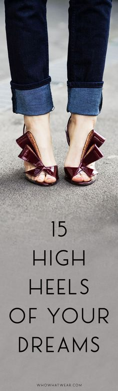 Beautiful high heels to shop now