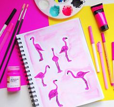 11 Watercolor Instagram Accounts You Should Follow Right Now via Brit + Co. So simple yet so good!