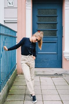 People Tree. Catherine Cardigan in Navy. SS16. www.peopletree.co.uk via Nice to Have Mag