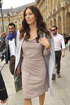 Jessica Biel In Paris