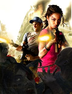 Left 4 Dead 2 Rochelle and Ellis concept art. I also really like this one, mainly due to Ellis' expression :)