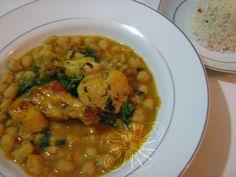 Cocina Costarricense: garbanzos con alas de pollo
