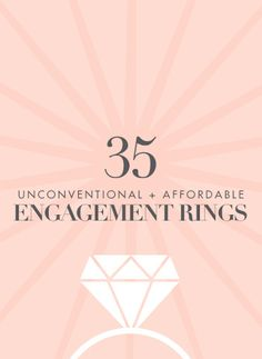 25 Unconventional + Affordable Engagement Rings Just an option for me and Jerry maybe. Antique Style Engagement Rings, Engagement Rings Sale, Contemporary Engagement Rings, Princess Cut Engagement Rings, Wedding Engagement, Diamond Engagement Rings, Wedding Rings, Wedding Notes, Wedding Ideas