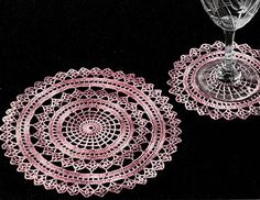 Spider Web Doily Set crochet pattern published in Crochet Designs for the Hostess, Spool Cotton Co. #34.